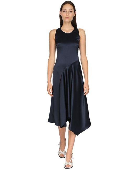Sies Marjan サテンドレス Blue