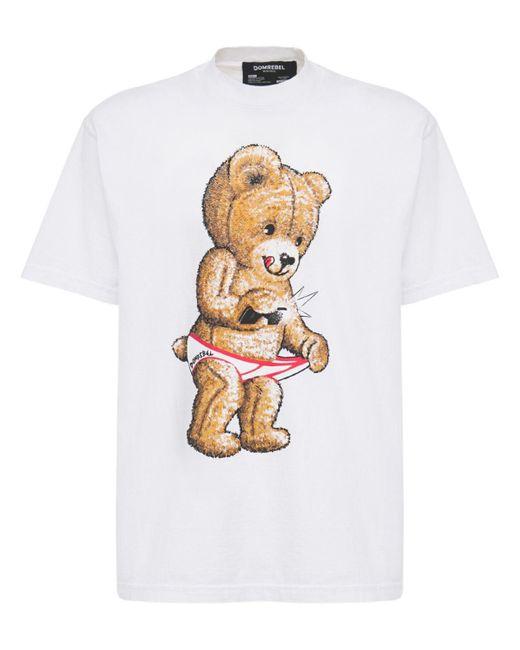 メンズ DOMREBEL Snap コットンジャージーtシャツ White