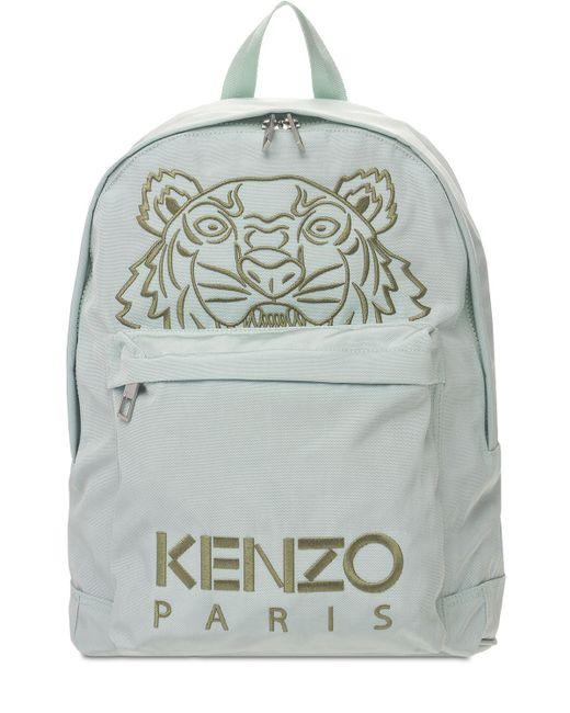 メンズ KENZO Tiger ナイロンバックパック Green