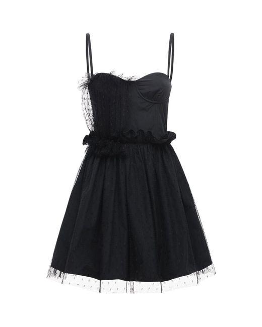 Платье Из Тюля И Тафеты RED Valentino, цвет: Black