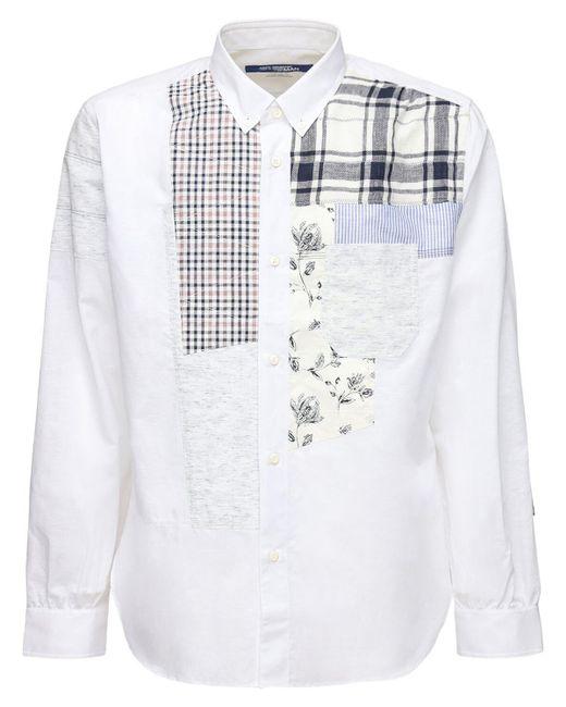 メンズ Junya Watanabe コットン&リネンシャンブレーシャツ White