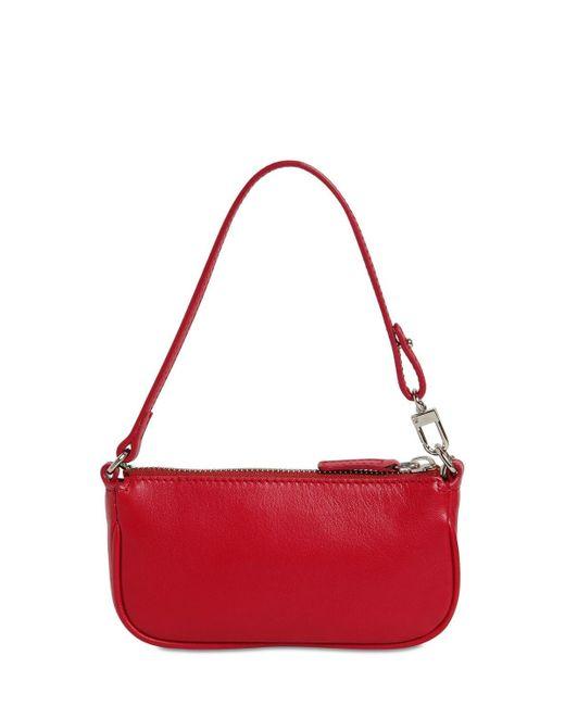 "Bolso Mini ""Rachel"" De Piel By Far de color Red"