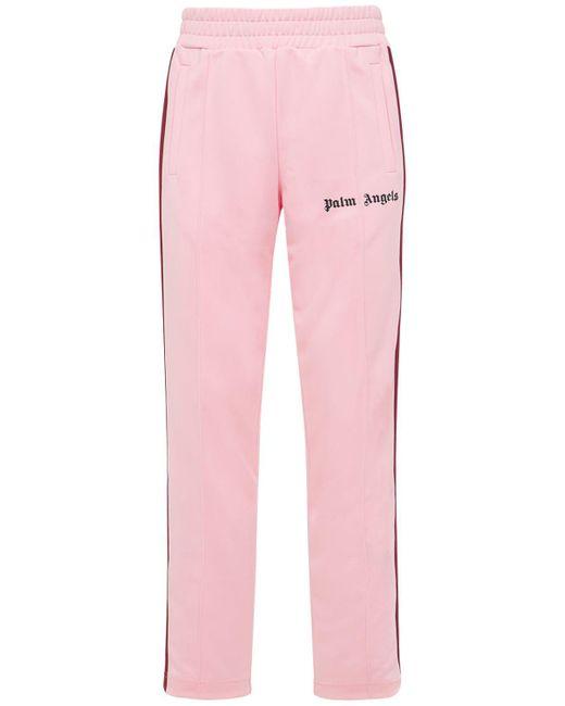 Спортивные Брюки C Принтом Palm Angels для него, цвет: Pink