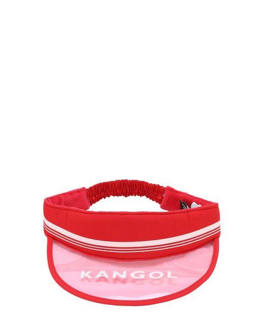 メンズ Kangol Retro サンバイザー Red
