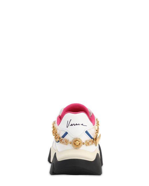 Versace Zapatillas Squalo con logo de mujer de color blanco