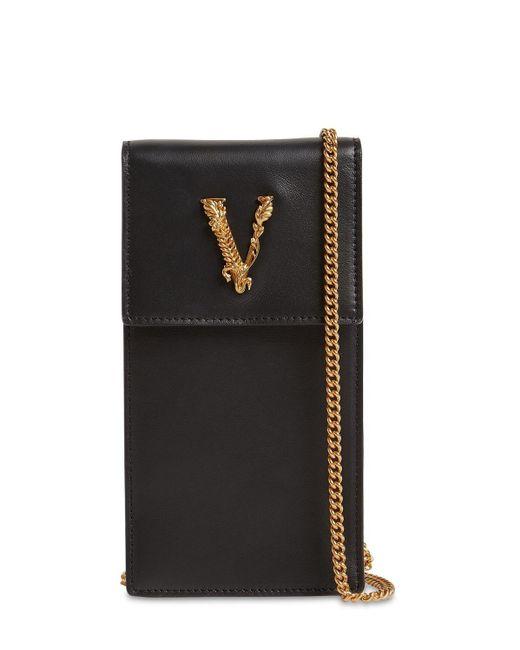Кожаный Чехол Для Телефона Virtus Versace, цвет: Black