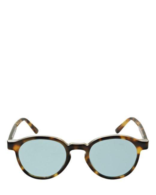 Retrosuperfuture The Warhol Cheetah アセテートサングラス Blue