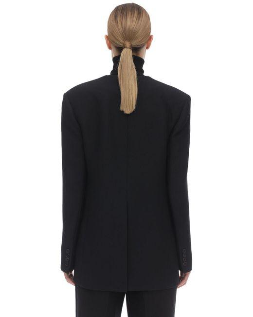 The Row Murray ウール&シルクジャケット Black