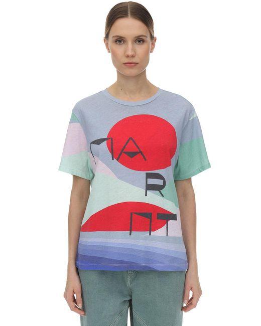 """Isabel Marant Camiseta """"Zewel"""" De Algodón Estampada de mujer LAexD"""