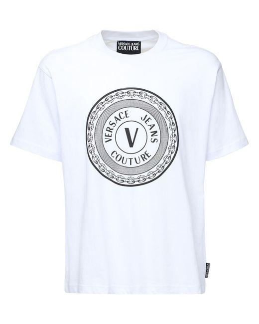メンズ Versace Jeans コットンtシャツ White