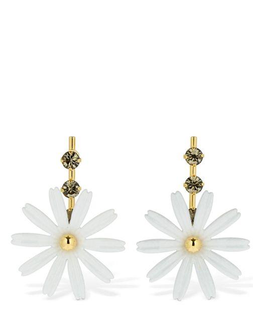 Marni Flower ドロップピアス Metallic