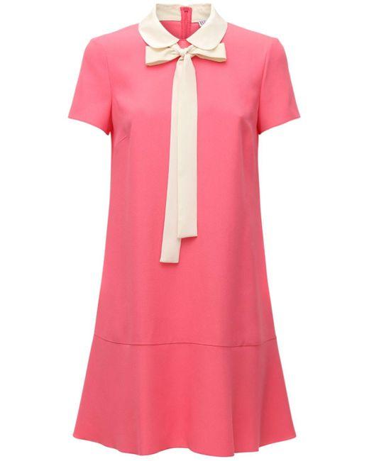 Короткое Атласное Платье Из Крепа RED Valentino, цвет: Pink