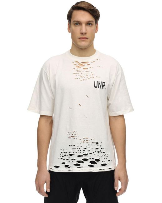 メンズ Unravel Project ジャージーtシャツ White