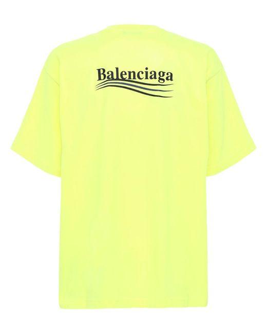 メンズ Balenciaga クルーネックtシャツ Yellow