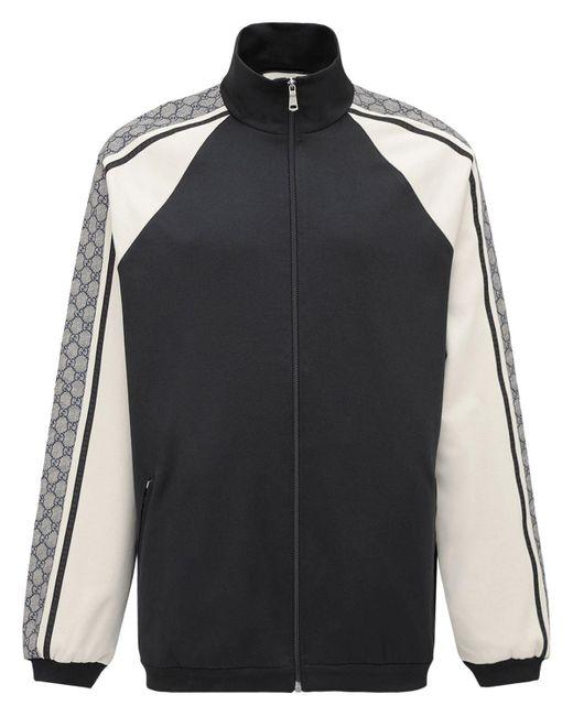 メンズ Gucci コットンブレンドジャージージャケット Black