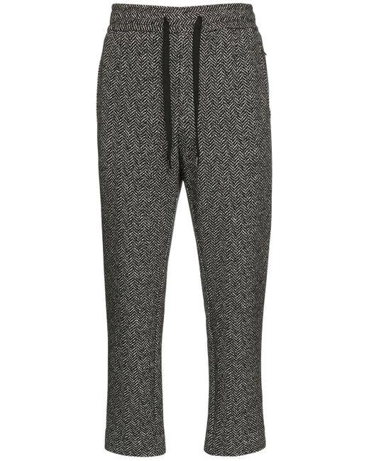 メンズ Dolce & Gabbana コットン&ウールジャージーパンツ Gray