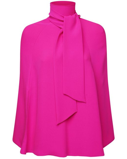 Top Couture De Cady De Seda Valentino de color Pink