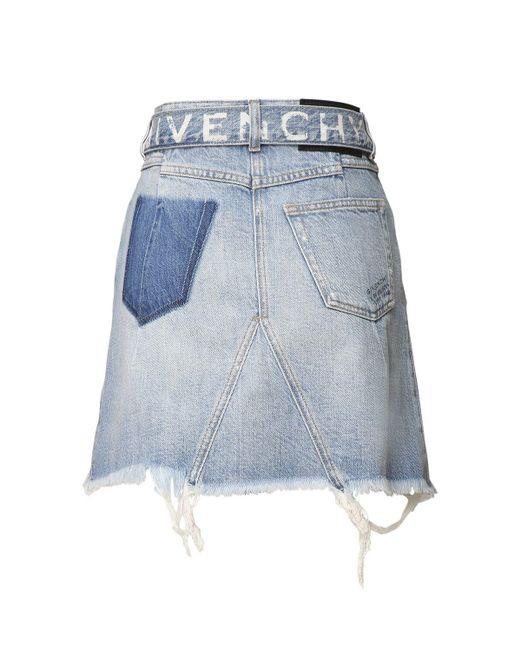 Юбка Из Хлопкового Денима Givenchy, цвет: Blue