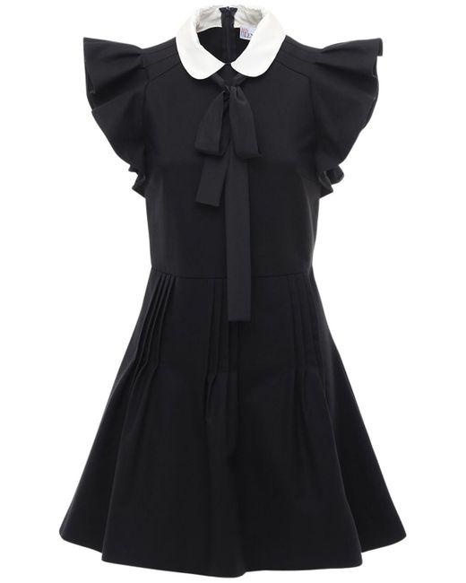 Короткое Платье С Оборками RED Valentino, цвет: Black