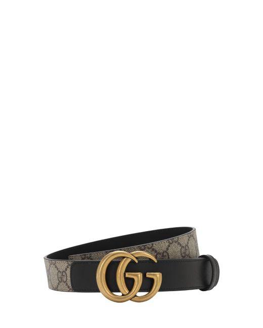 Gucci Gg Marmont Supreme ベルト 3cm Black