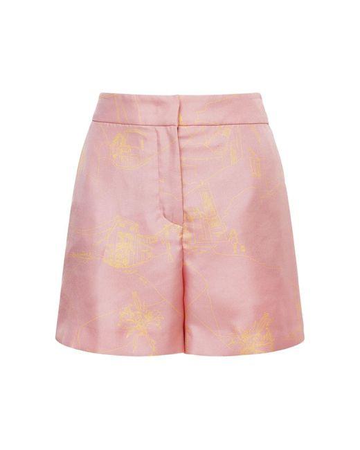 Emilio Pucci シルクツイルショートパンツ Pink