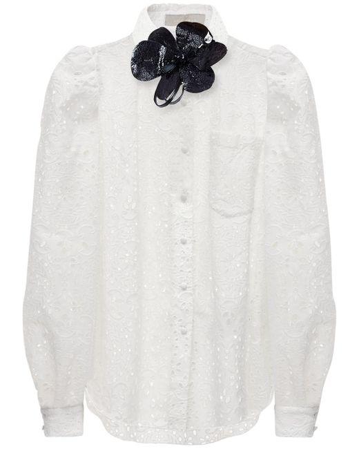 Elie Saab コットンブレンドシャツ White
