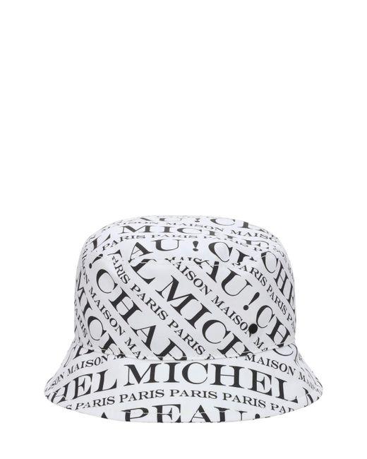 Maison Michel Axel Iconic コットンバケットハット White