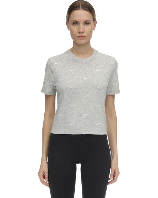 Nike Nrg Swooshコットンtシャツ Gray