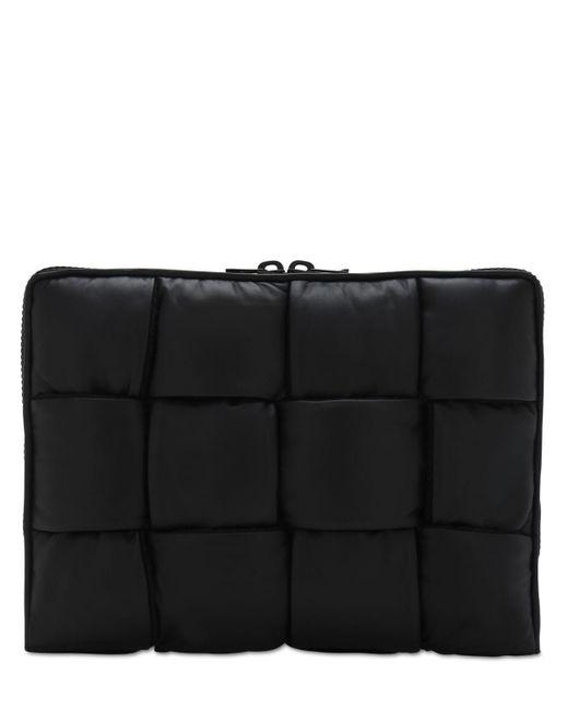 メンズ Bottega Veneta Intrecciato レザードキュメントケース Black