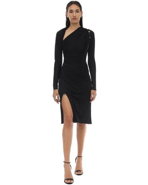 Платье Из Вискозного Джерси Versace, цвет: Black