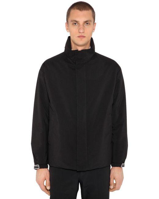 Prada - Black Techno Fabric Down Jacket for Men - Lyst