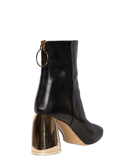 Ellery 80MM LEATHER ANKLE BOOTS 5TdwB