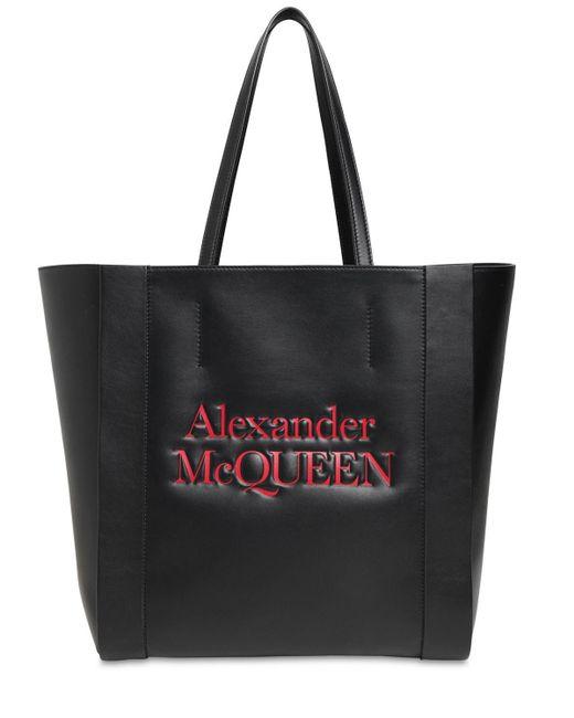 Alexander McQueen レザートートバッグ Black