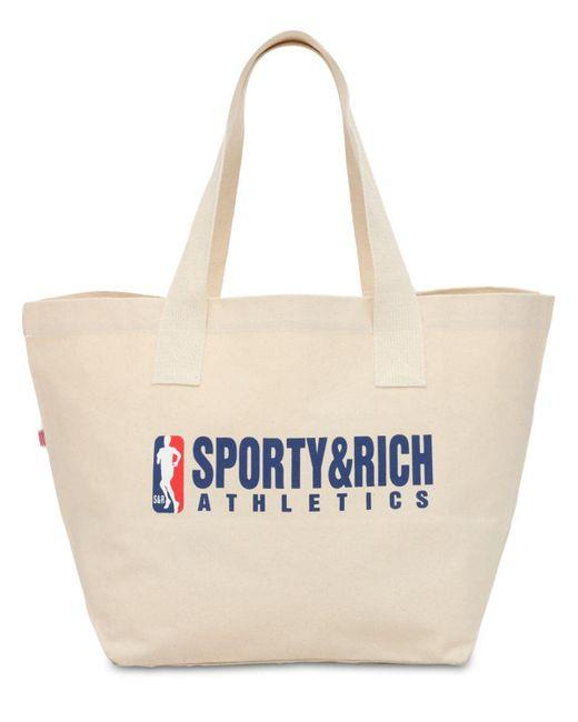 Sporty & Rich Team トートバッグ Natural