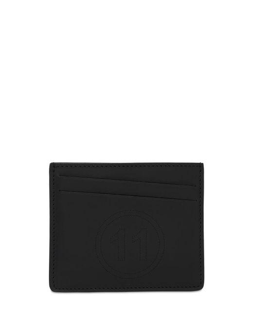 メンズ Maison Margiela レザーカードホルダー Black