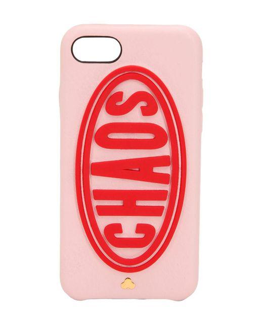 Chaos Daytona レザー Iphone 7/8 ケース Red