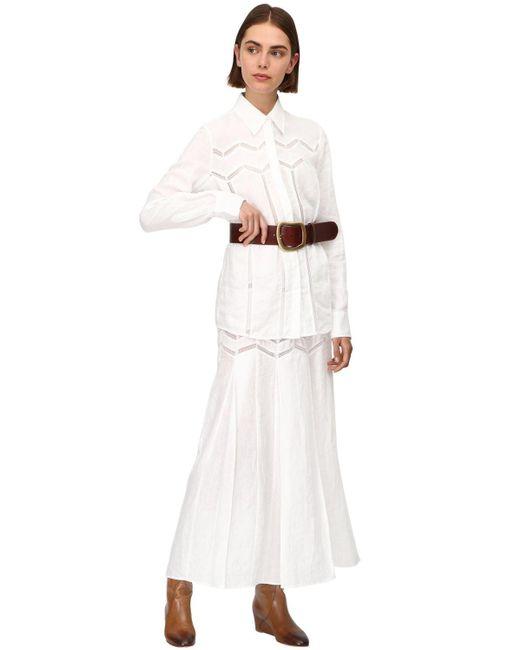 Gabriela Hearst Lvr Sustainable リネンシャツ White