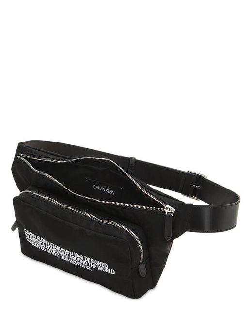 メンズ CALVIN KLEIN 205W39NYC 刺繍ロゴ ウェストバッグ Black