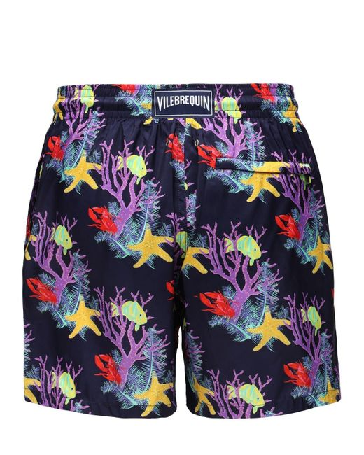 Vilebrequin Men's Blue Mahina Nylon Swim Shorts