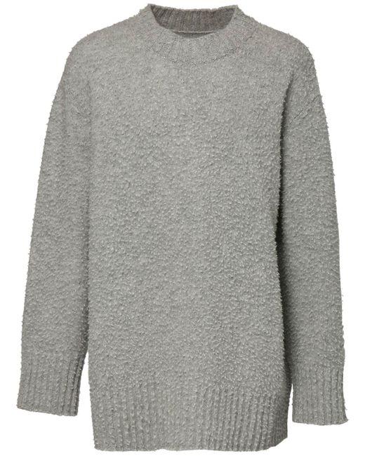 メンズ Maison Margiela オーバーサイズウールニットセーター Gray