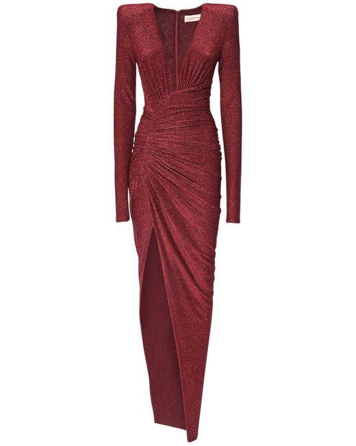 Блестящее Платье Из Стретч Джерси Alexandre Vauthier, цвет: Red