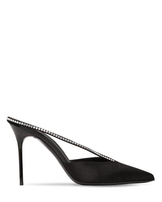 Туфли-мюли Из Атласа 95мм Balmain, цвет: Black