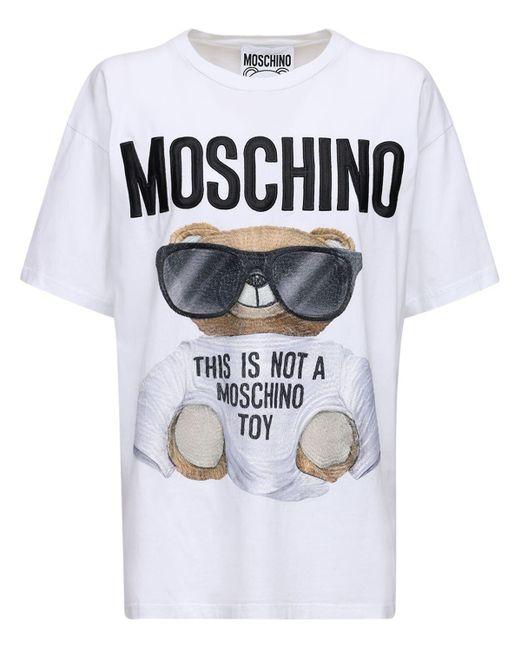 Moschino Bear ジャージーtシャツ White