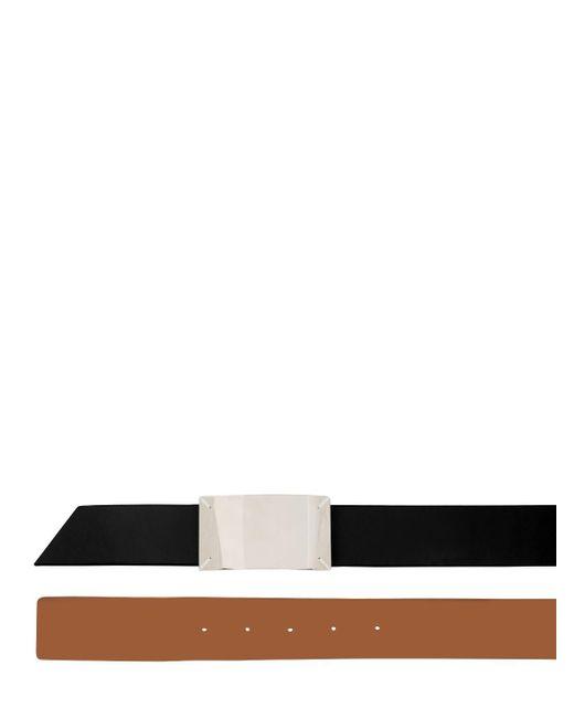 メンズ Maison Margiela リバーシブルレザーベルト 35mm Black