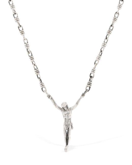 Cantini Mc Firenze - Metallic Jesus Necklace for Men - Lyst