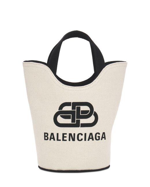 Balenciaga Wave Monogram New キャンバストートバッグ Black