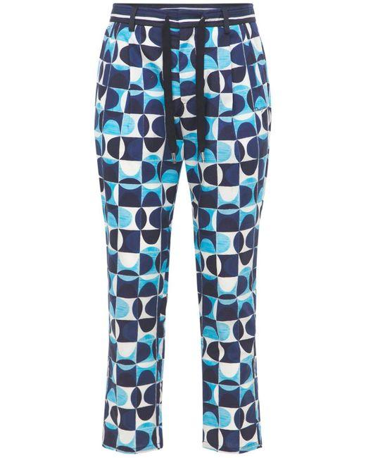 Спортивные Брюки Из Поплин Dolce & Gabbana для него, цвет: Blue