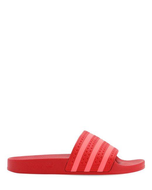 Adidas Originals Adilette ラバー スライドサンダル Red