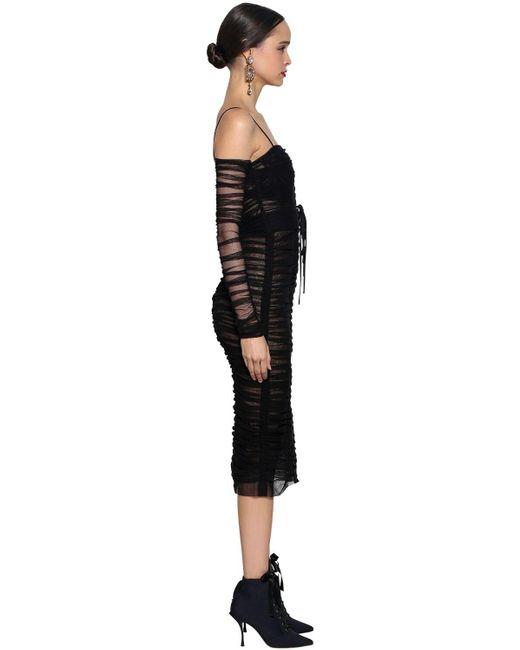 Платье Из Тюля Стретч Dolce & Gabbana, цвет: Black