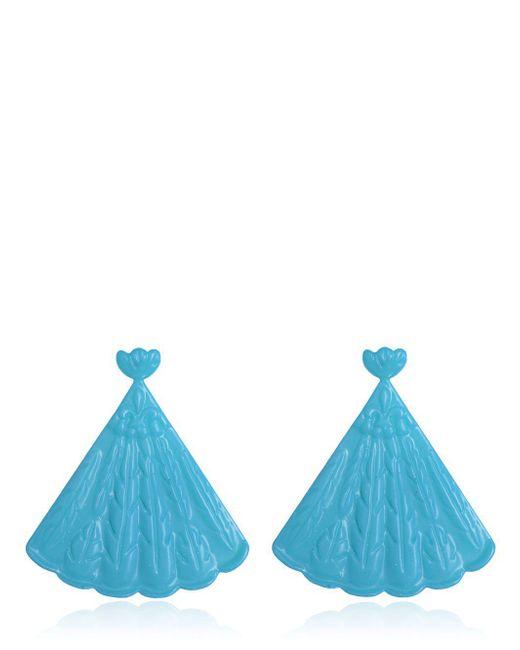 Mariah Rovery   Blue Brinco Leque Earrings   Lyst